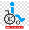 Wheelchair Eps Icon vector image