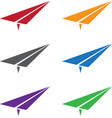 set of colorful paper planes vector image