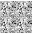 Seamless abstract hand-drawn waves pattern vector image vector image