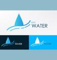 Logo water line wave vector image