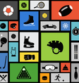 Color tile with sport icons vector image vector image