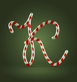 Candy cane abc k vector