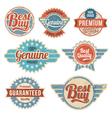 Vintage retro label banner design set vector image vector image