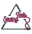 Color vintage sewing emblem vector image