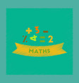 flat shading style icon math lesson vector image