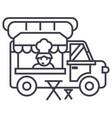 food truckstreet mobile kitchen line icon vector image
