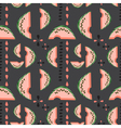 Geometric seamless pattern with watermelons vector image