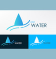 logo water line wave vector image