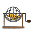 lottery cage wheel icon vector image