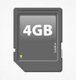 memory card vector image