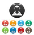 new man avatar icons set collection circle vector image
