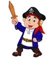 Pirate boy cartoon vector image