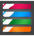 Set of Colorful tag banner vector image