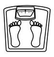 weight balance bathroom icon vector image