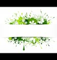 Spring nature background vector image vector image
