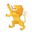 Golden lion symbol of belgiumthe dark belgian vector image