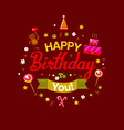 happy birthday kids card at chocolate vector image