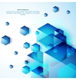 Blue abstraction background vector image vector image