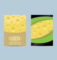 flyer cheese banner vector image