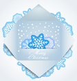 Color polygonal christmas greeting card vector image vector image