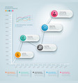 3d infographics diagram business vector image vector image