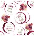 wine type designs seamless vector image vector image