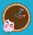 baby frame with owl vector image
