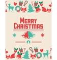 Bells and icon set of Christmas season design vector image
