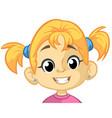 cartoon funny girl head vector image