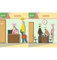 Digital company reception and talking vector image