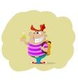 Fun cartoon holding money vector image