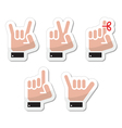 Hand gestures signals and signs - victory vector image