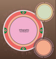 infographic circle background vector image