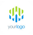 polygon business chart logo vector image