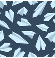 seamless pattern with Origami plane vector image