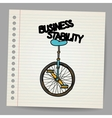 Business stability concept vector image vector image