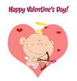 Cupid baby cartoon vector image