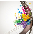 abstract flora background 1 vector image