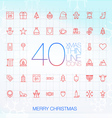 40 Trendy Thin Merry Christmas Icons vector image vector image