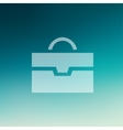Briefcase in flat style icon vector image