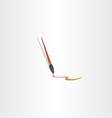 paint brush icon color design vector image