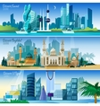 Arabic Cityscape Horizontal Banners Set vector image