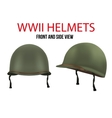 Side view of Military US helmet M1 WWII vector image
