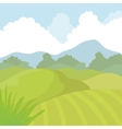 Agriculture icon Landscape concept vector image