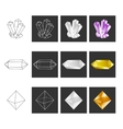 Crystal Geometry Shape Set Colored Crystals In vector image