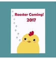 Cute Little Rooster Symbol of New Year 2017 vector image