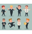 Different Positions and Actions Businessman vector image