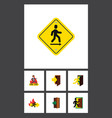 flat icon emergency set of direction pointer vector image