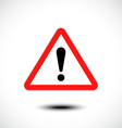Hazard warning attention sign vector image