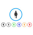 patient woman rounded icon vector image